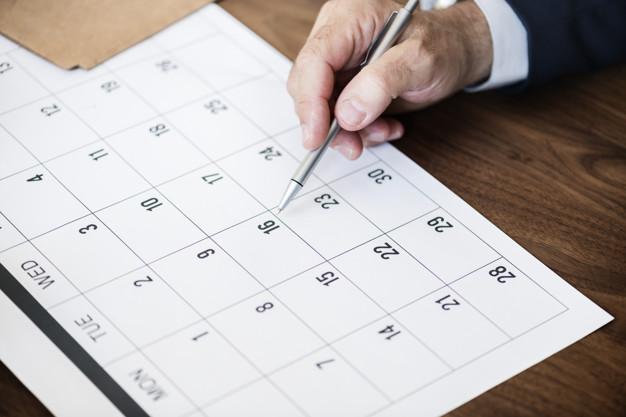 calendario tiempo habitos Hábitos saludables: la importancia de marcarse un buen objetivo