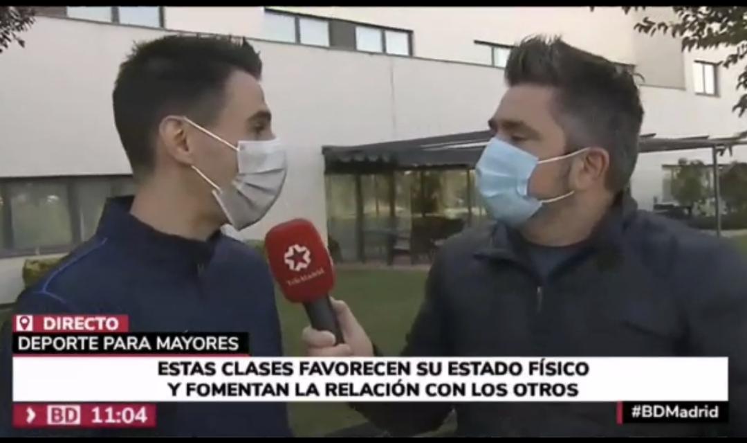 """Reportaje para """"Buenos Días, Madrid"""" en Telemadrid sobre karate para mayores"""